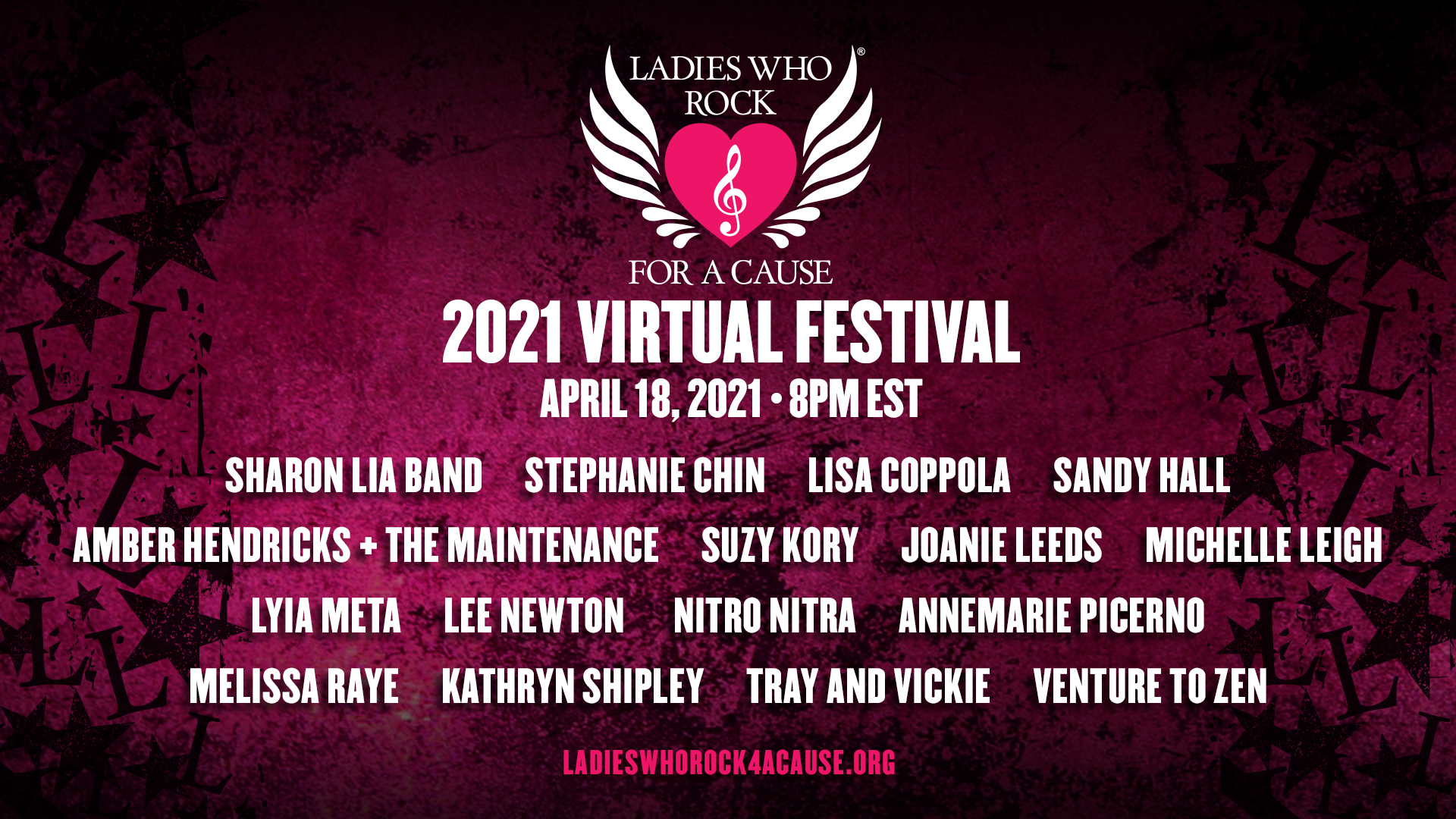 2021 Ladies Who Rock For A Cause Festival Lineup